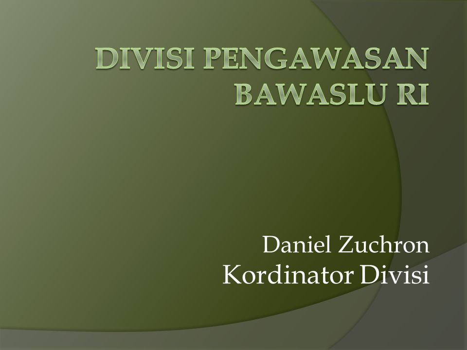 Divisi pengawasan bawaslu ri