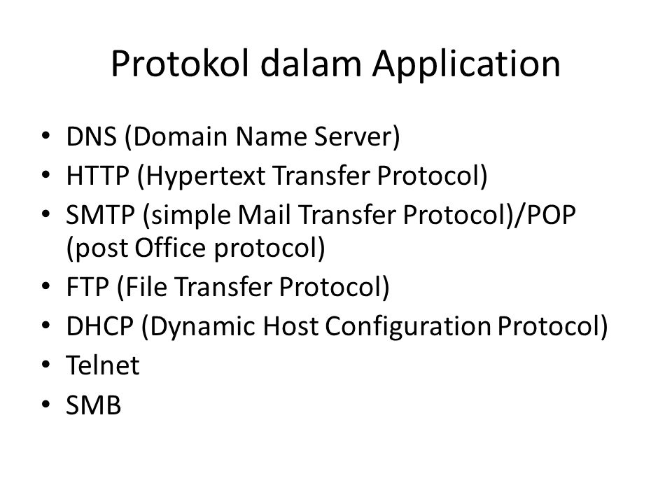 Protokol dalam Application