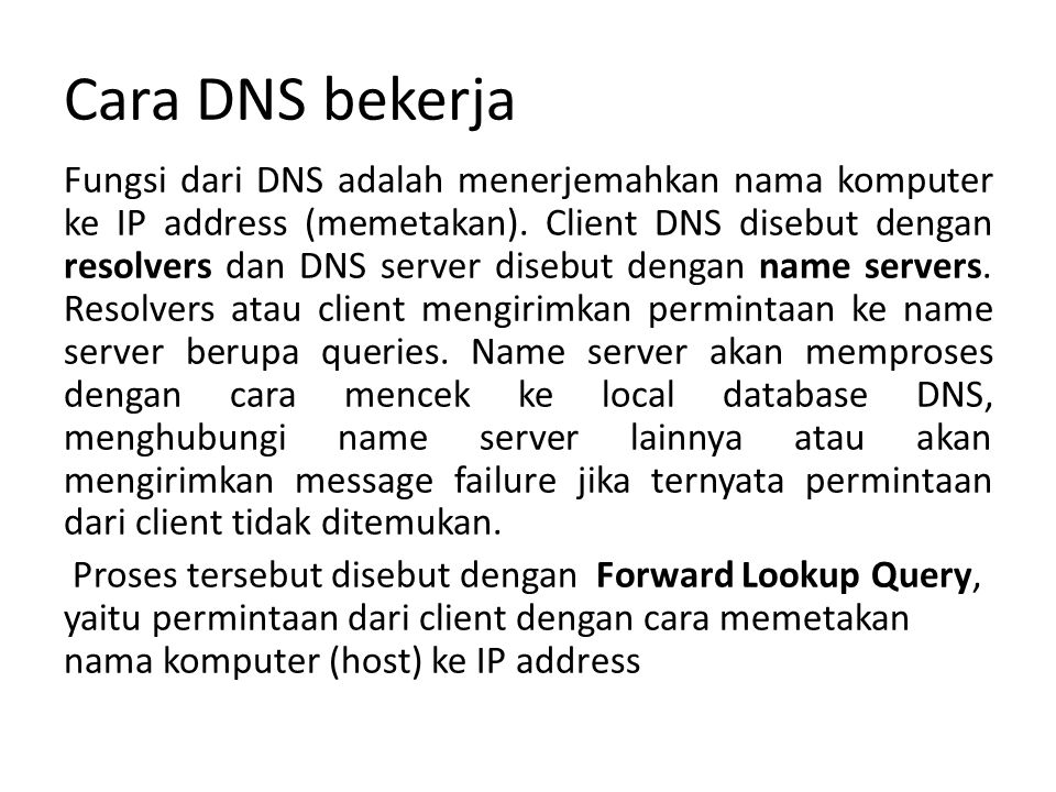 Cara DNS bekerja