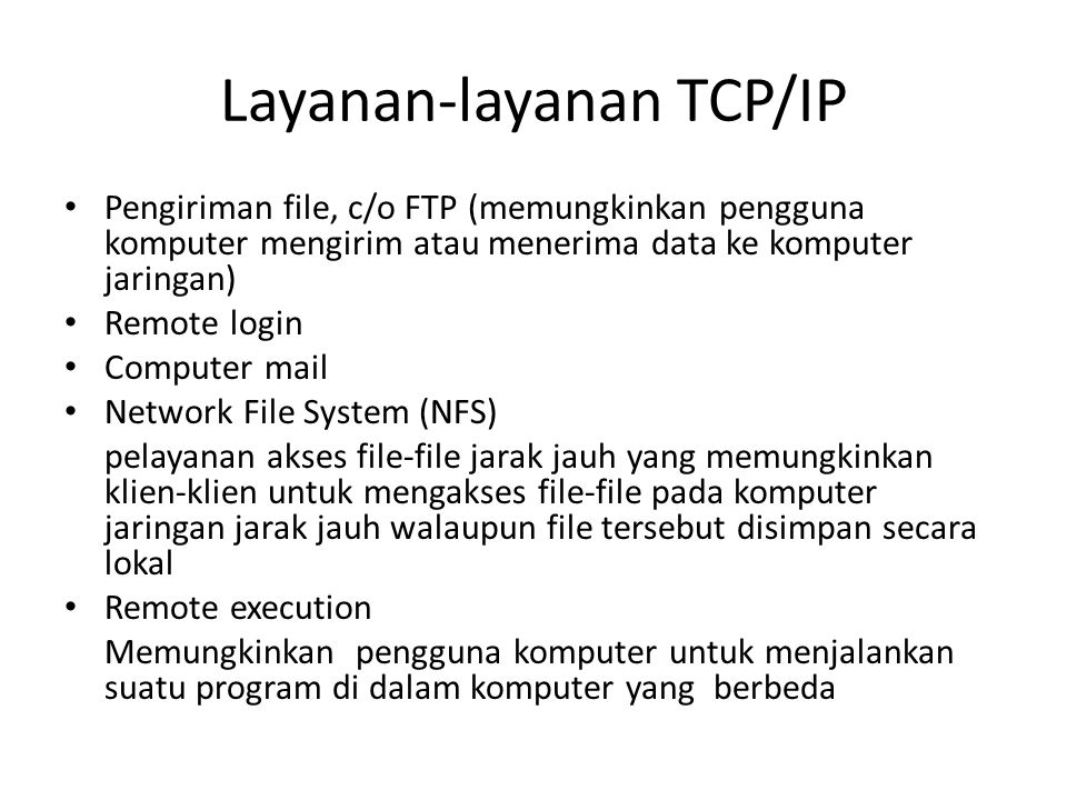 Layanan-layanan TCP/IP