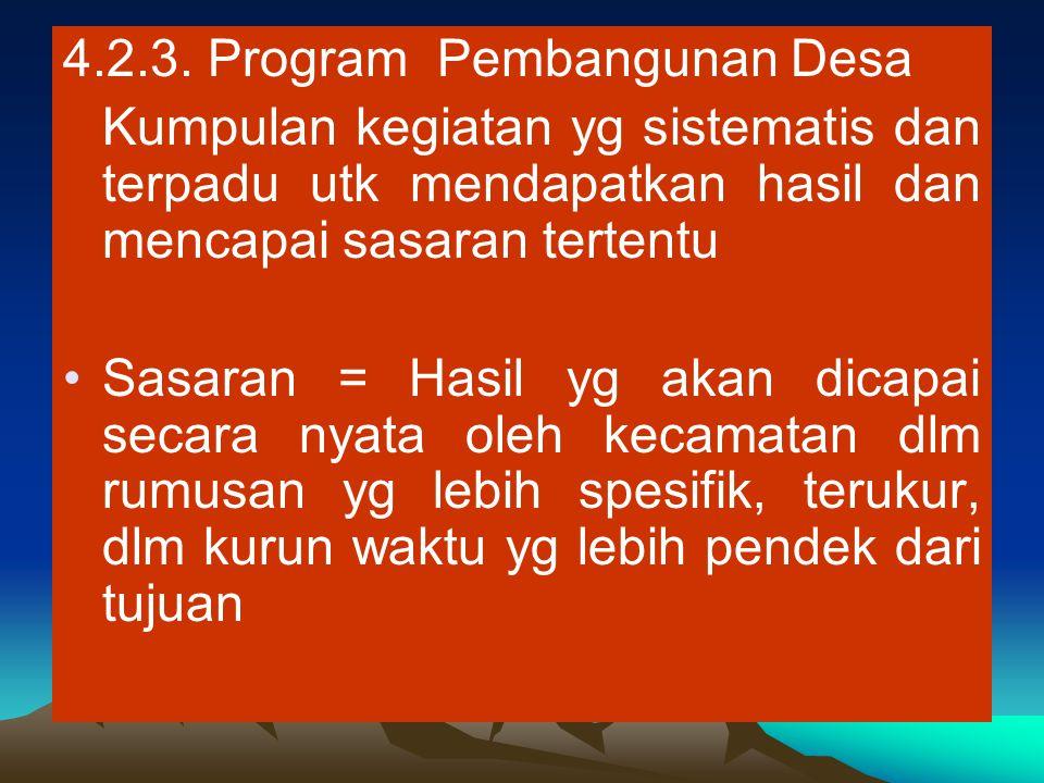 4.2.3. Program Pembangunan Desa