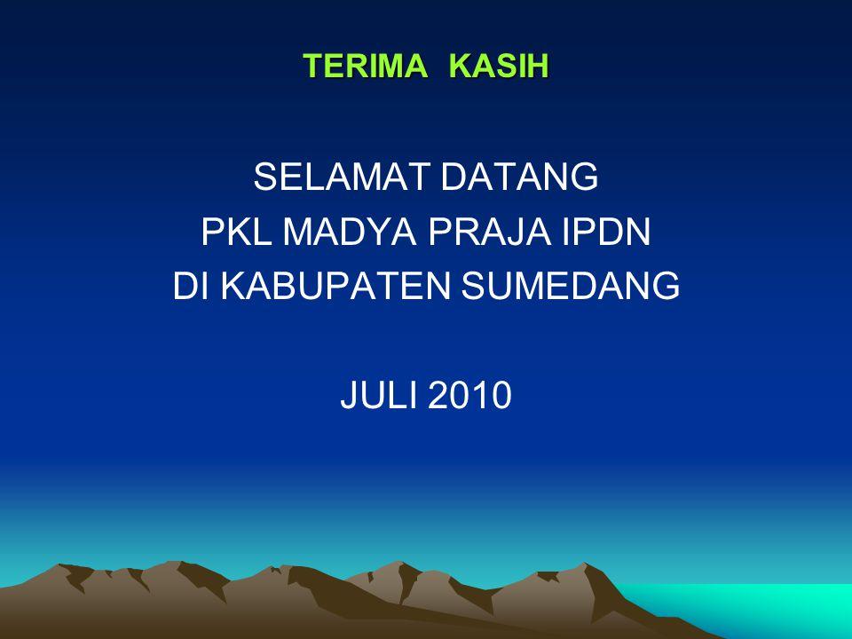 SELAMAT DATANG PKL MADYA PRAJA IPDN DI KABUPATEN SUMEDANG JULI 2010