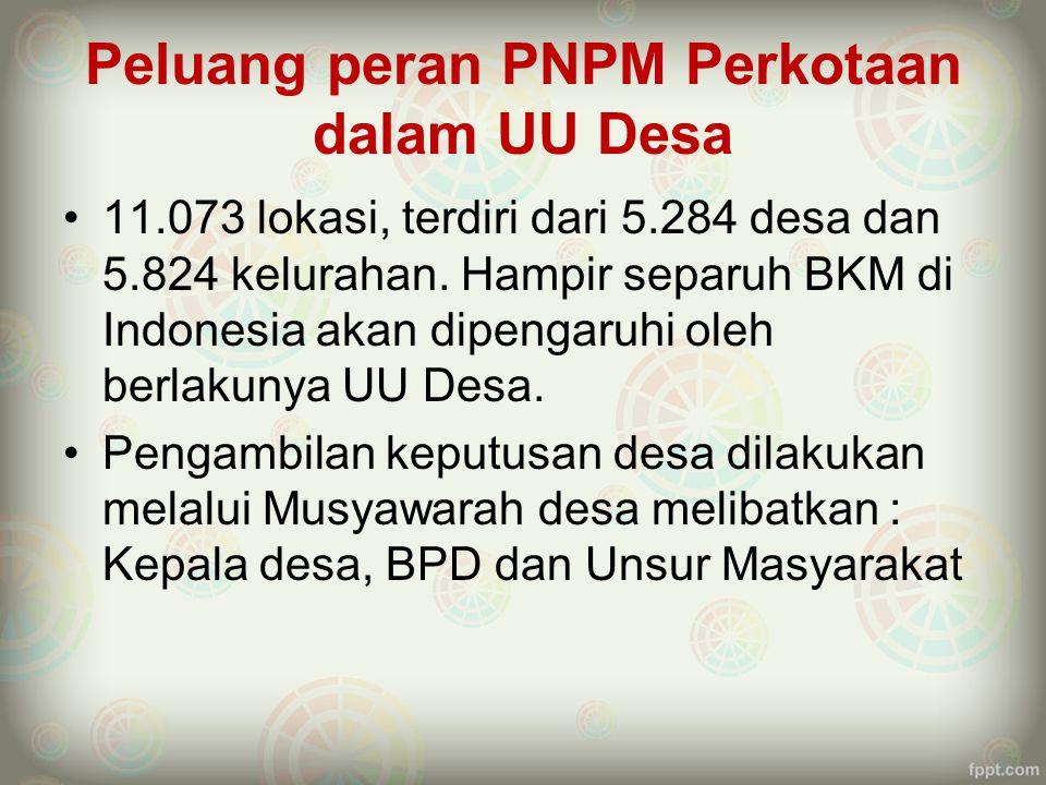 Peluang peran PNPM Perkotaan dalam UU Desa