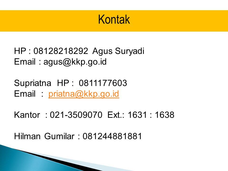 Kontak HP : 08128218292 Agus Suryadi
