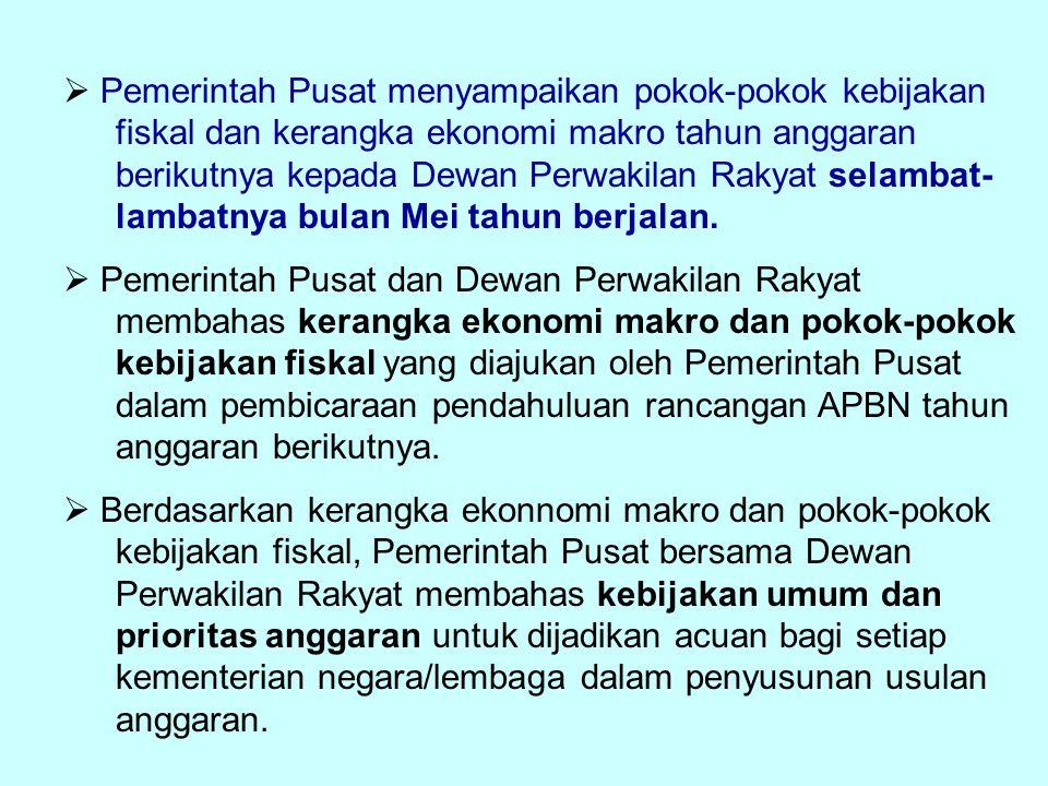 Pemerintah Pusat menyampaikan pokok-pokok kebijakan