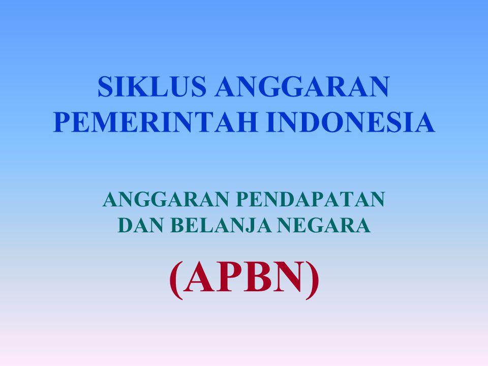 SIKLUS ANGGARAN PEMERINTAH INDONESIA
