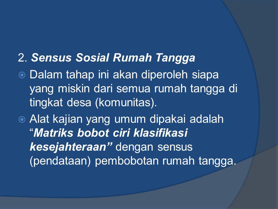 2. Sensus Sosial Rumah Tangga