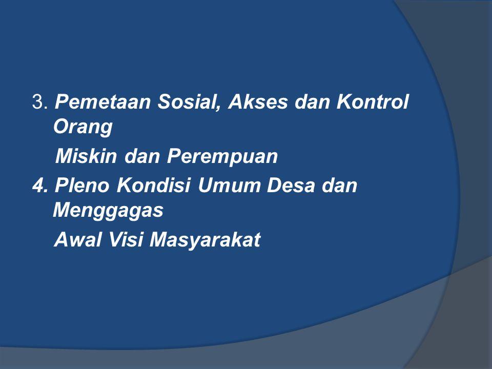 3. Pemetaan Sosial, Akses dan Kontrol Orang Miskin dan Perempuan 4