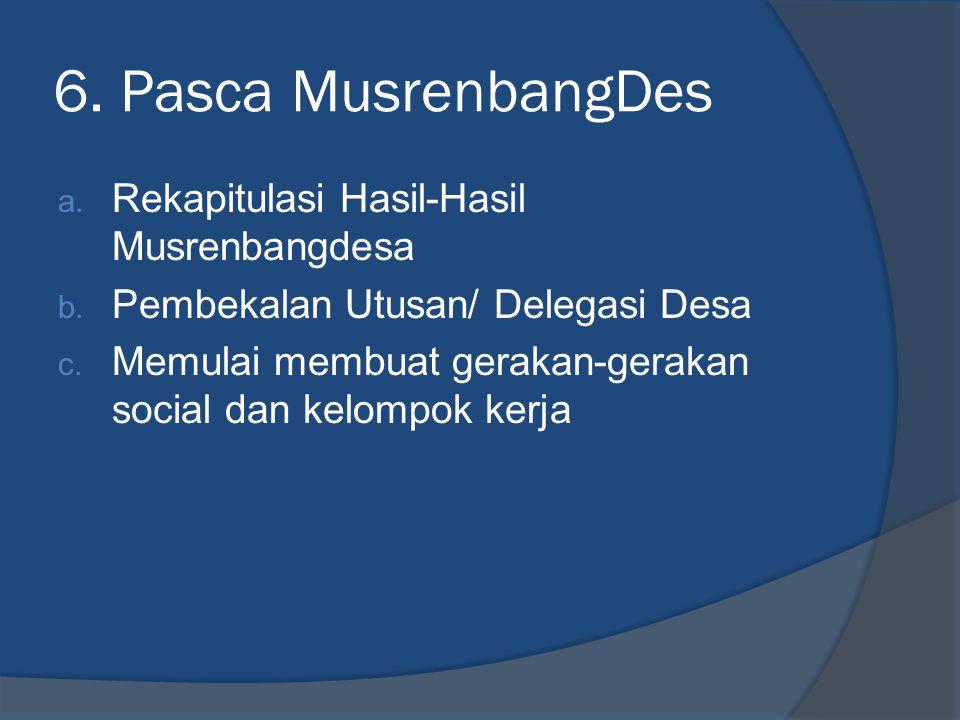 6. Pasca MusrenbangDes Rekapitulasi Hasil-Hasil Musrenbangdesa