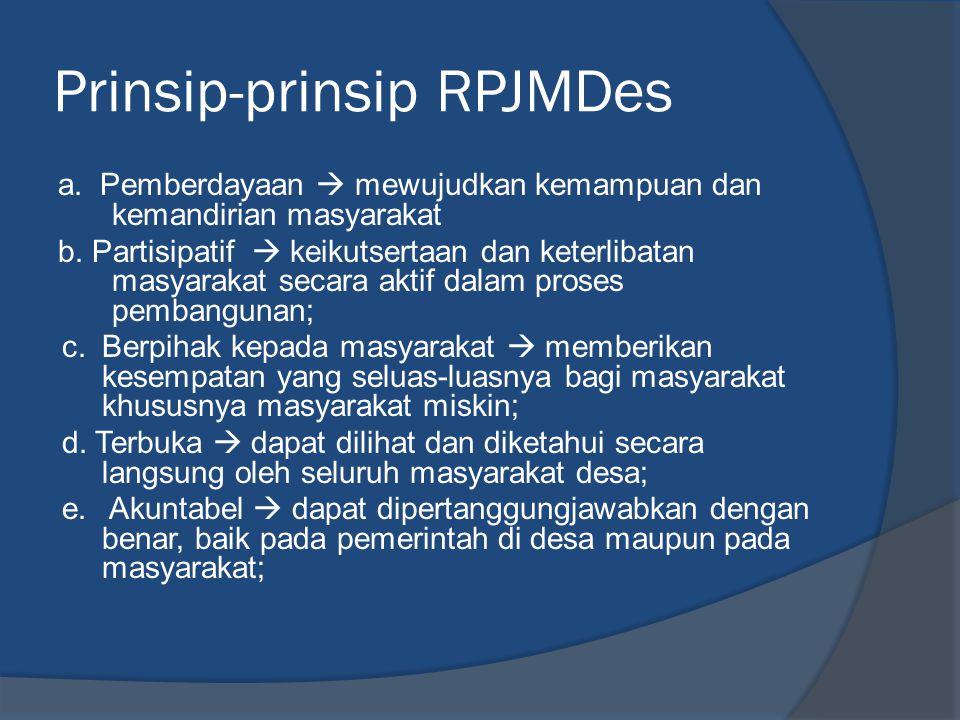 Prinsip-prinsip RPJMDes
