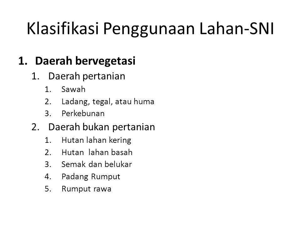 Klasifikasi Penggunaan Lahan-SNI
