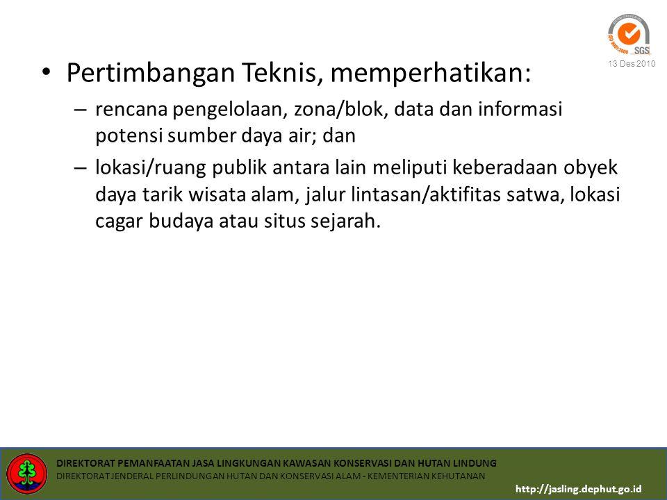 Pertimbangan Teknis, memperhatikan: