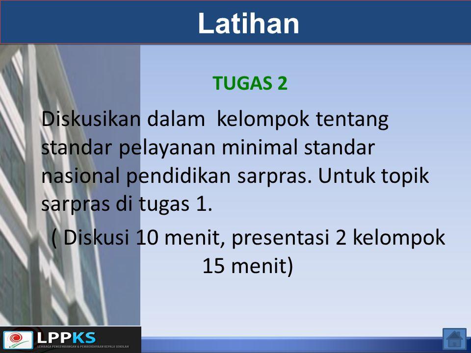 ( Diskusi 10 menit, presentasi 2 kelompok 15 menit)