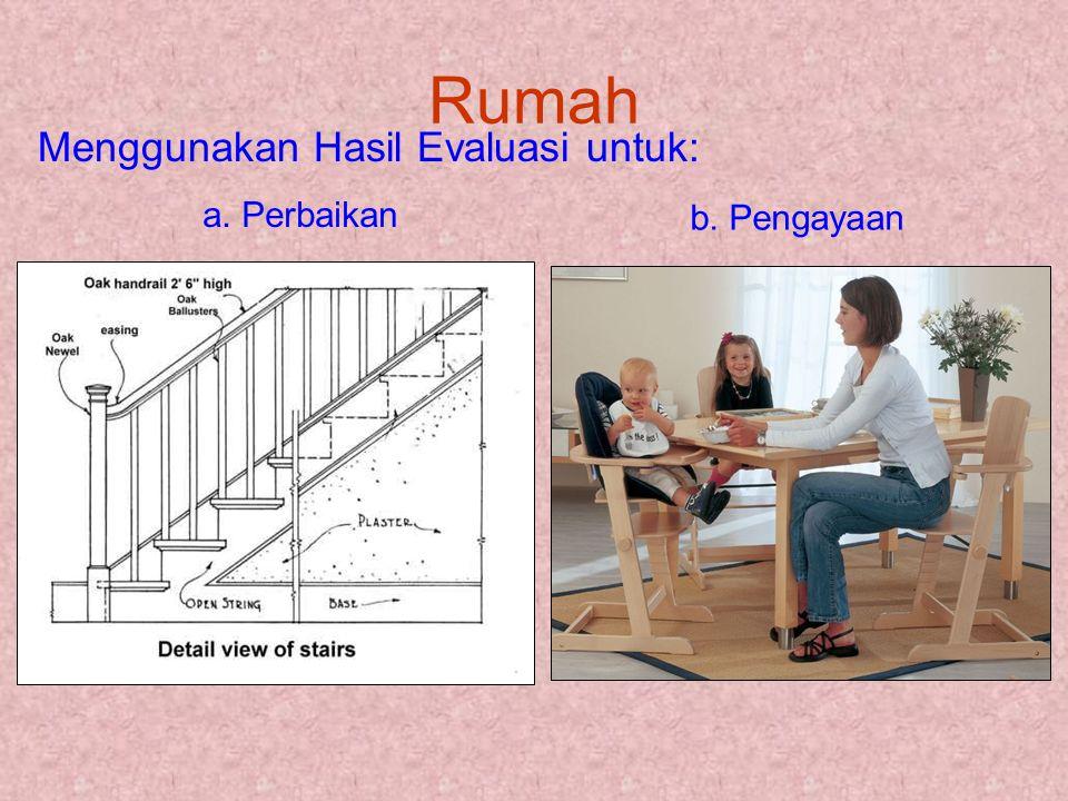 Rumah Menggunakan Hasil Evaluasi untuk: a. Perbaikan b. Pengayaan