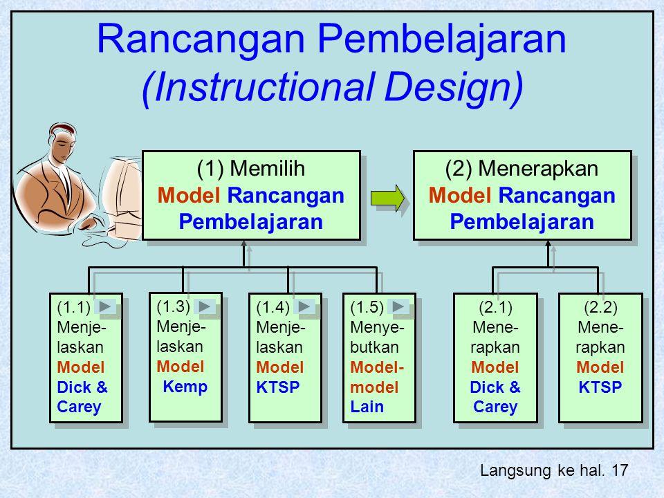 Rancangan Pembelajaran (Instructional Design)