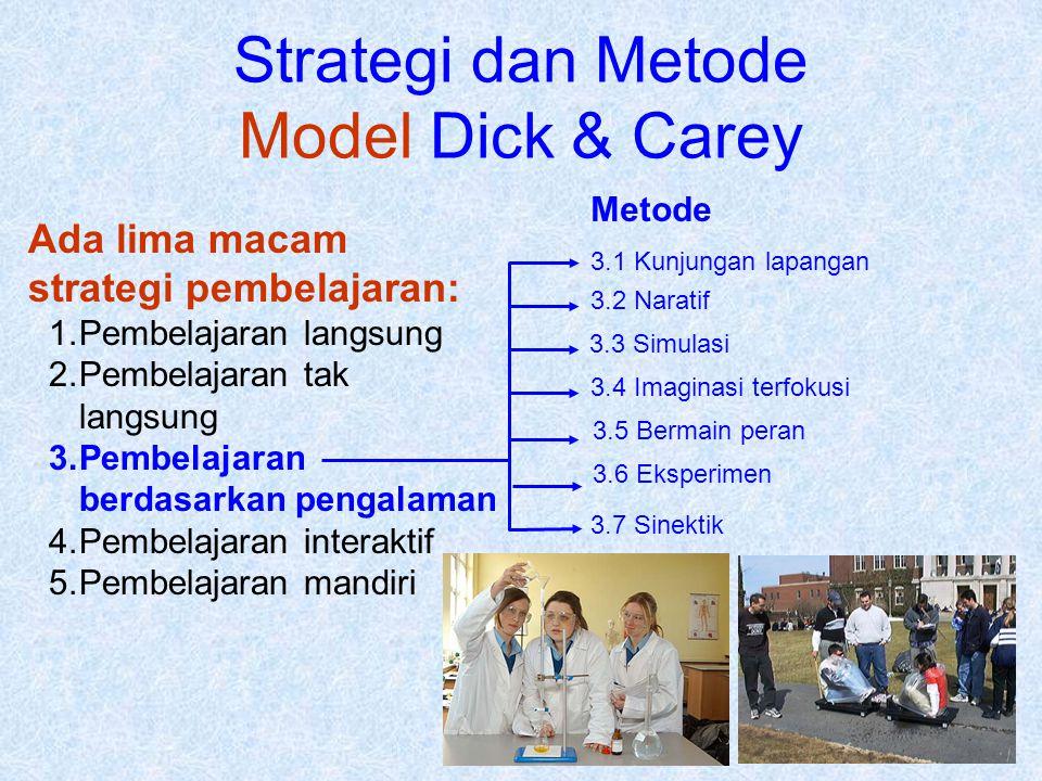 Strategi dan Metode Model Dick & Carey