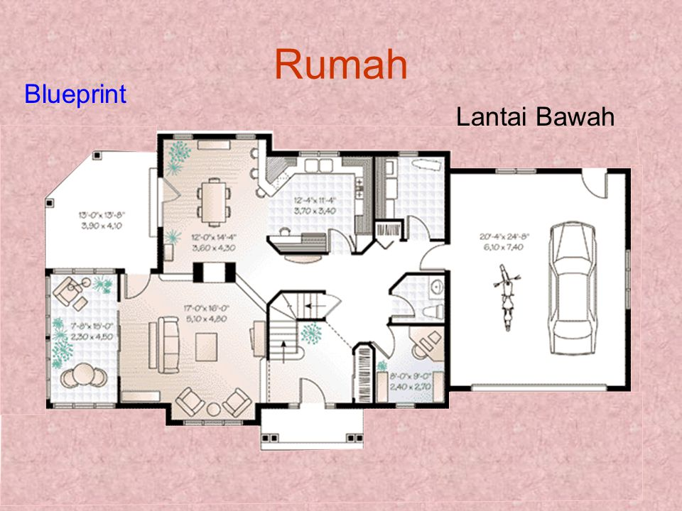 Rumah Blueprint Lantai Bawah
