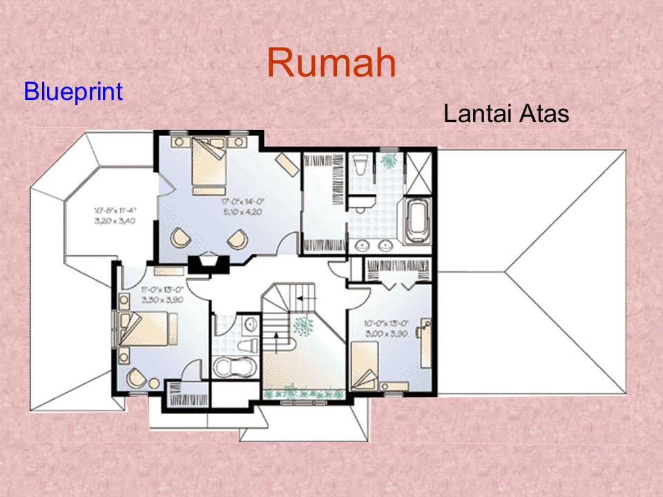 Rumah Blueprint Lantai Atas