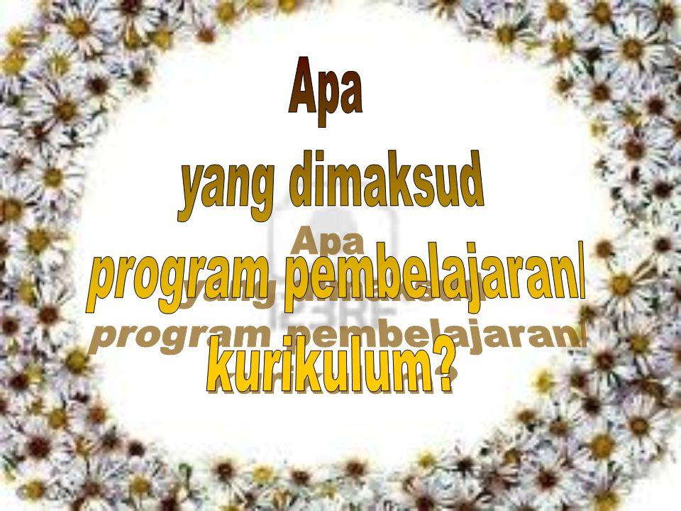 program pembelajaran/