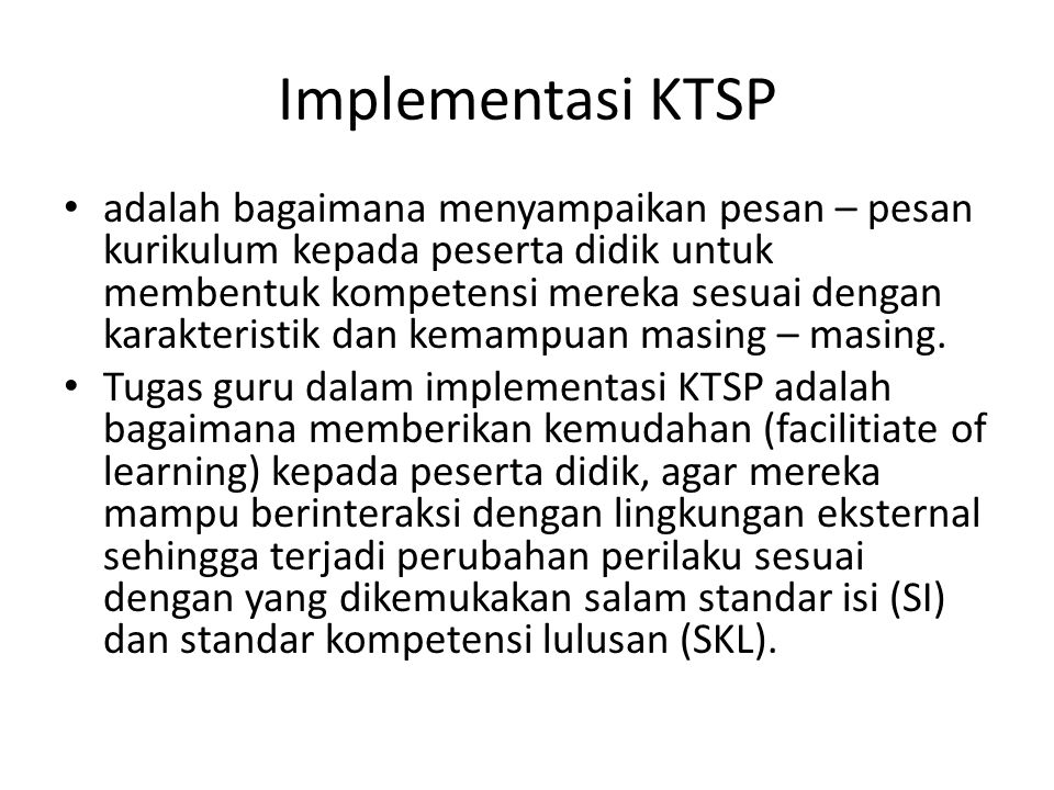 Implementasi KTSP