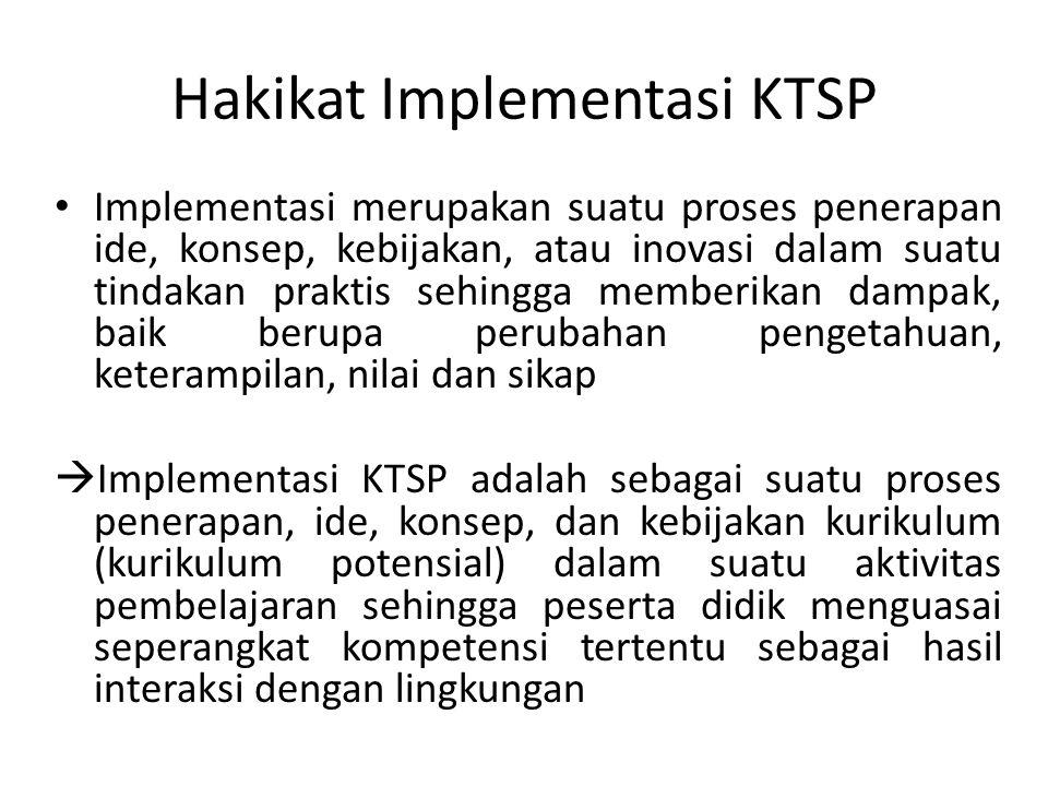 Hakikat Implementasi KTSP