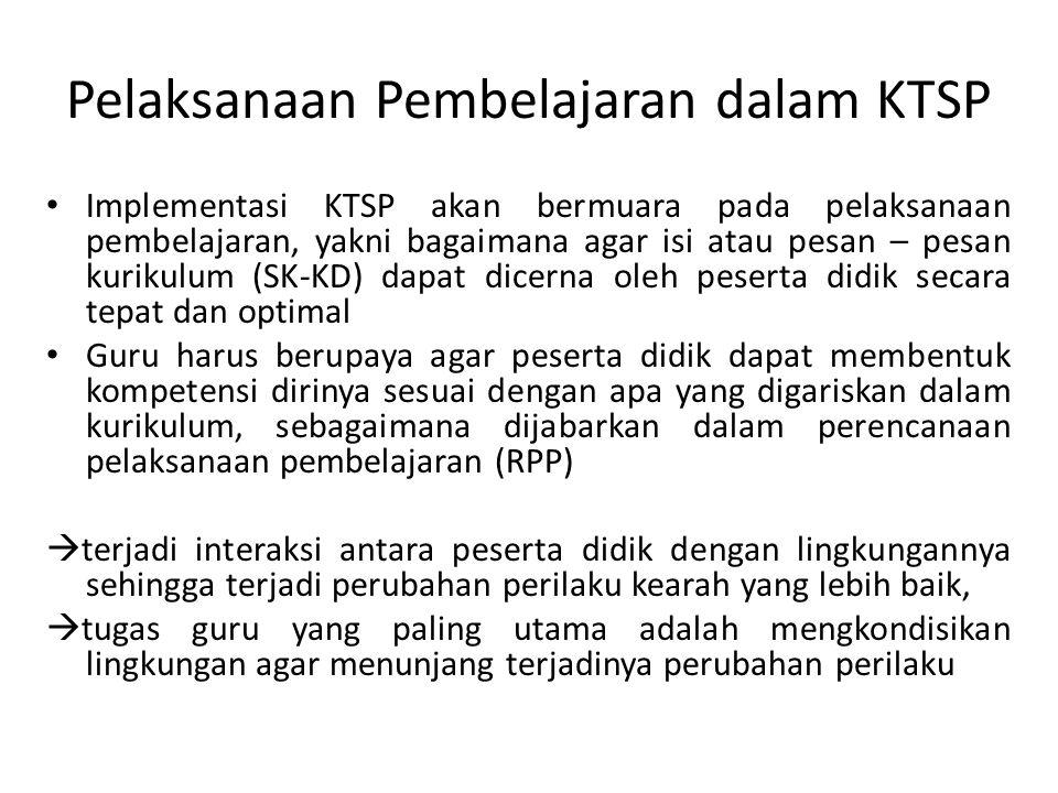 Pelaksanaan Pembelajaran dalam KTSP