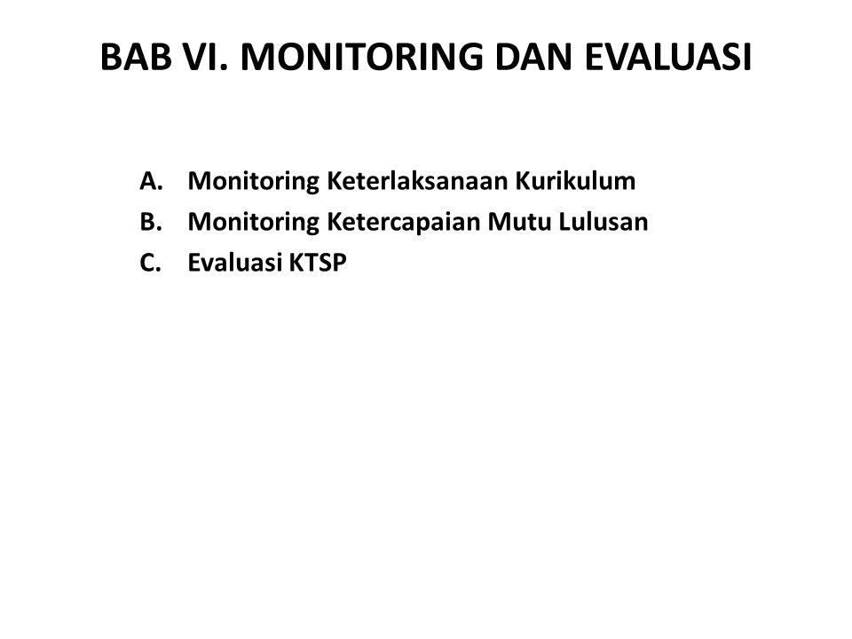 BAB VI. MONITORING DAN EVALUASI