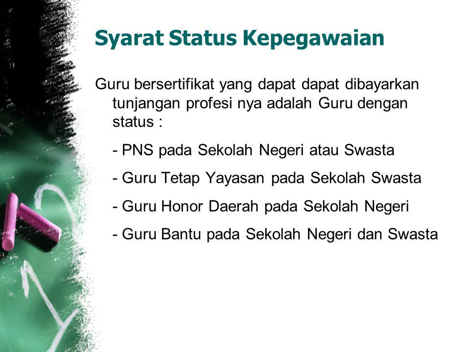 Syarat Status Kepegawaian