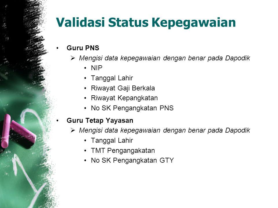 Validasi Status Kepegawaian