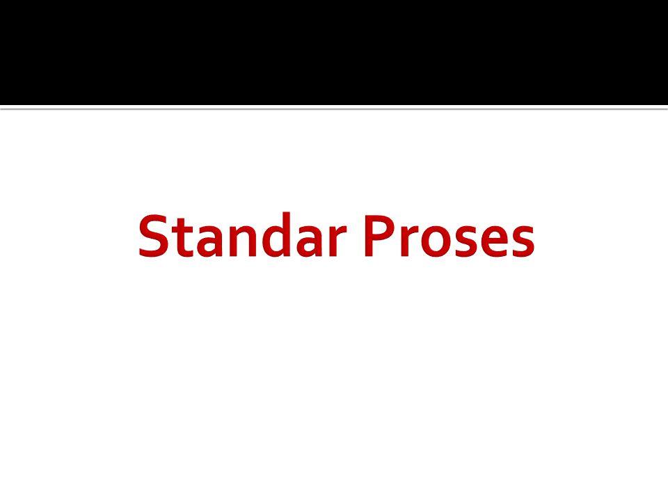 Standar Proses