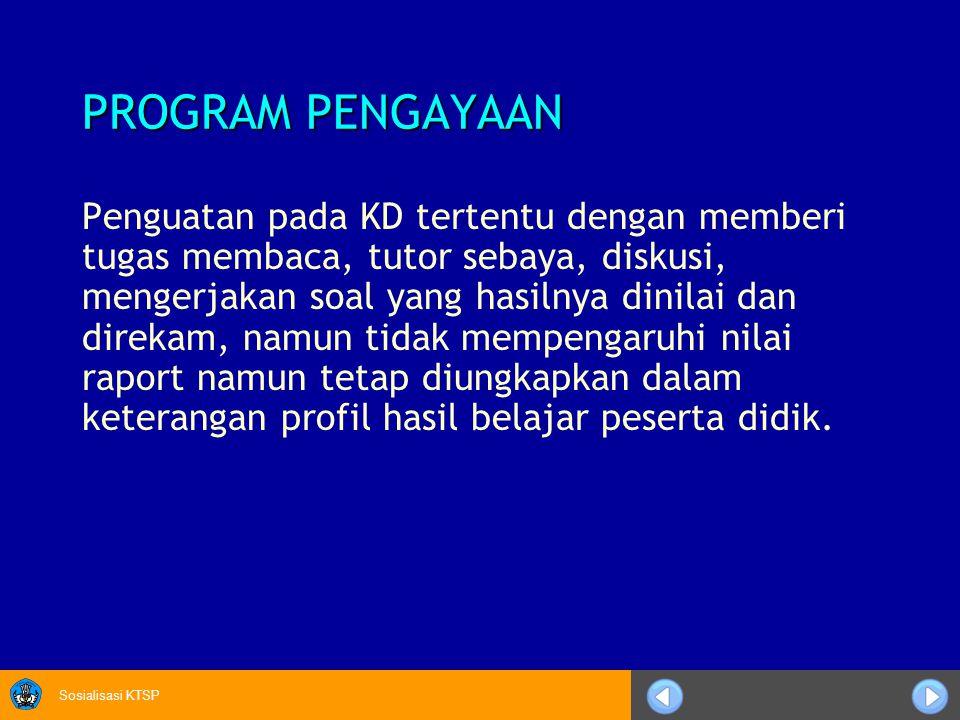 PROGRAM PENGAYAAN