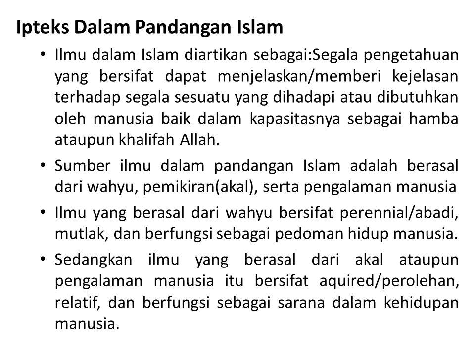 Ipteks Dalam Pandangan Islam