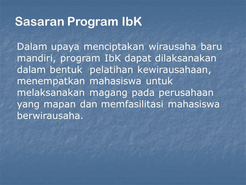 Sasaran Program IbK