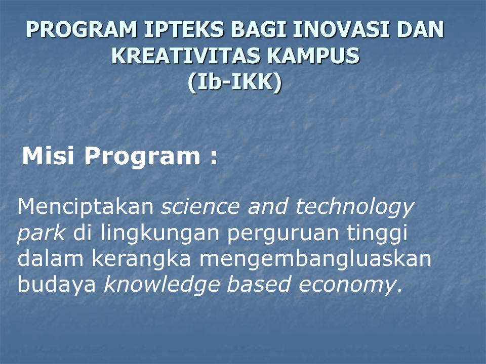 PROGRAM IPTEKS BAGI INOVASI DAN KREATIVITAS KAMPUS (Ib-IKK)