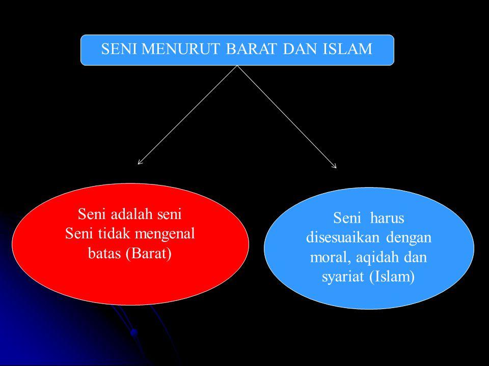 SENI MENURUT BARAT DAN ISLAM
