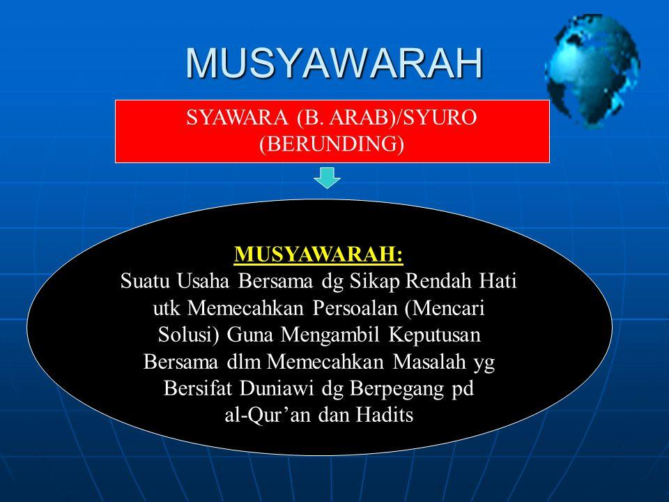 SYAWARA (B. ARAB)/SYURO (BERUNDING)