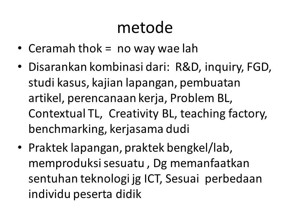 metode Ceramah thok = no way wae lah