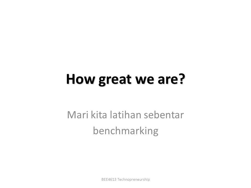 Mari kita latihan sebentar benchmarking
