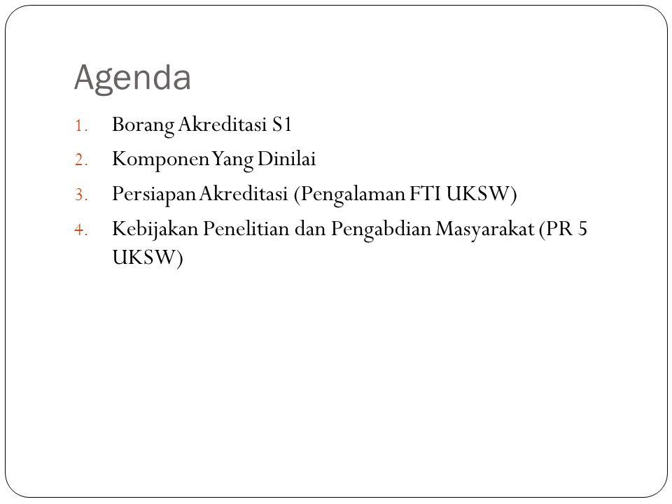 Agenda Borang Akreditasi S1 Komponen Yang Dinilai
