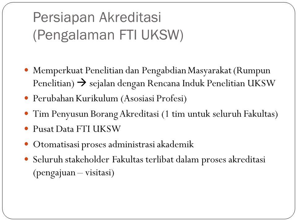 Persiapan Akreditasi (Pengalaman FTI UKSW)