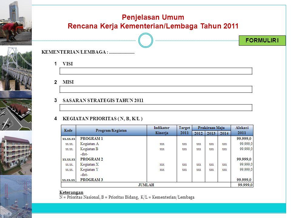 Rencana Kerja Kementerian/Lembaga Tahun 2011