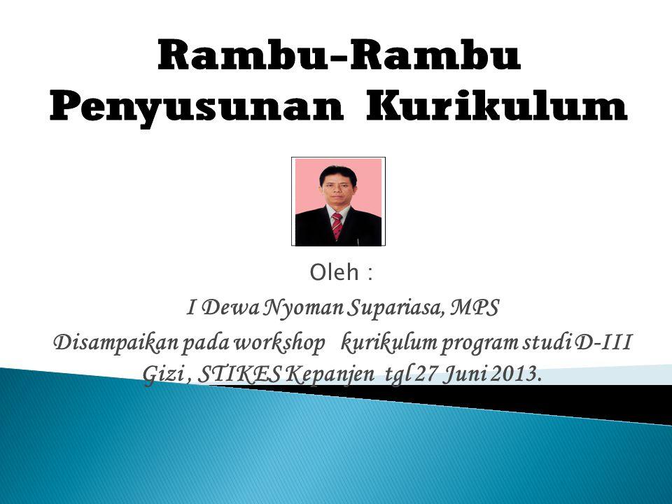 I Dewa Nyoman Supariasa, MPS