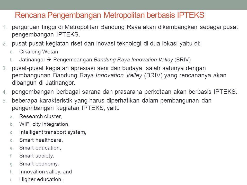 Rencana Pengembangan Metropolitan berbasis IPTEKS