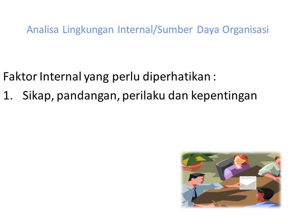 Analisa Lingkungan Internal/Sumber Daya Organisasi