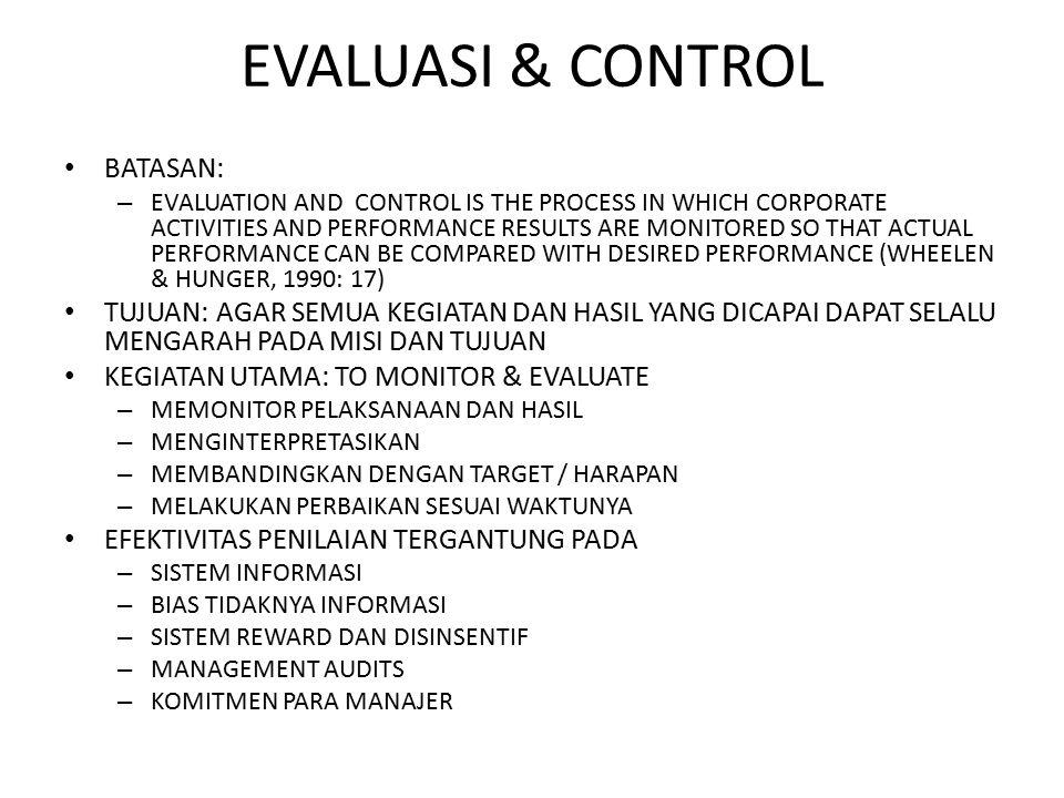 EVALUASI & CONTROL BATASAN: