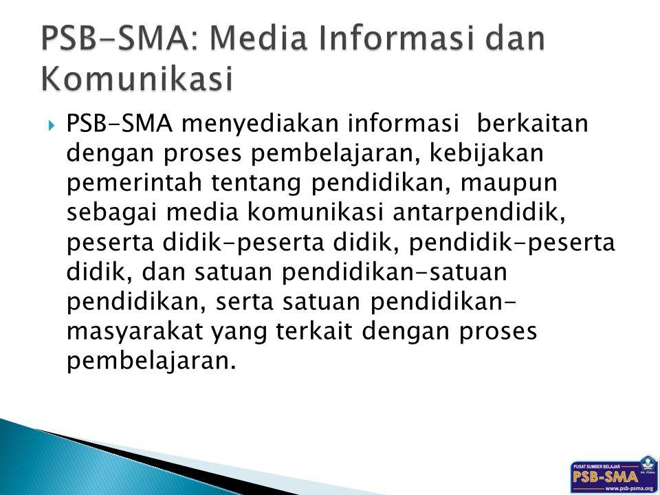 PSB-SMA: Media Informasi dan Komunikasi