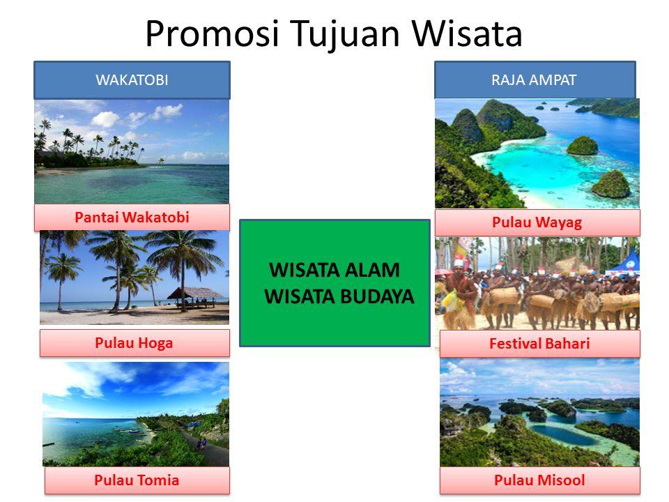 Promosi Tujuan Wisata WISATA ALAM WISATA BUDAYA WAKATOBI RAJA AMPAT