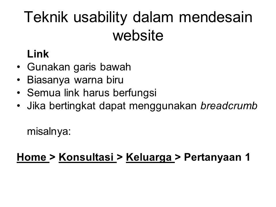 Teknik usability dalam mendesain website