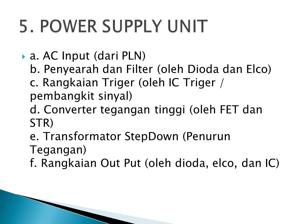 5. POWER SUPPLY UNIT
