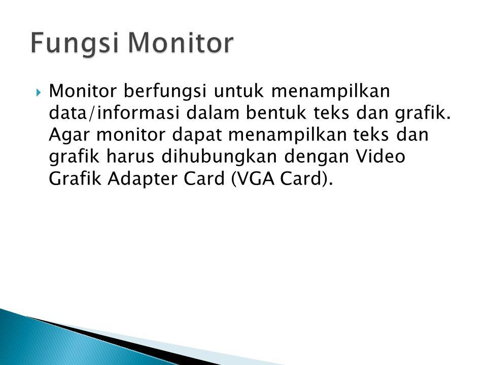 Fungsi Monitor